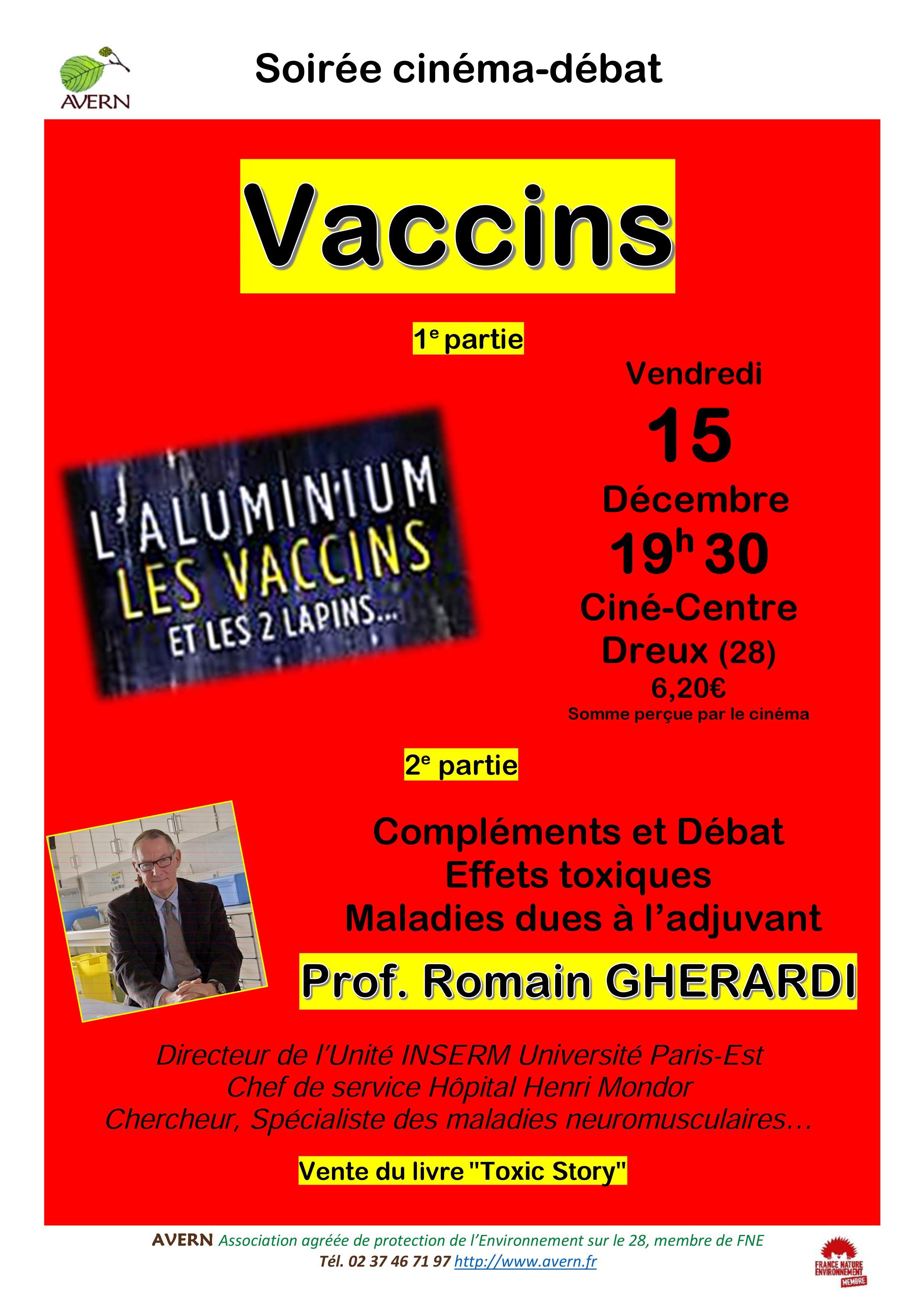 Film-Débat à propos de l'aluminium dans les vaccins