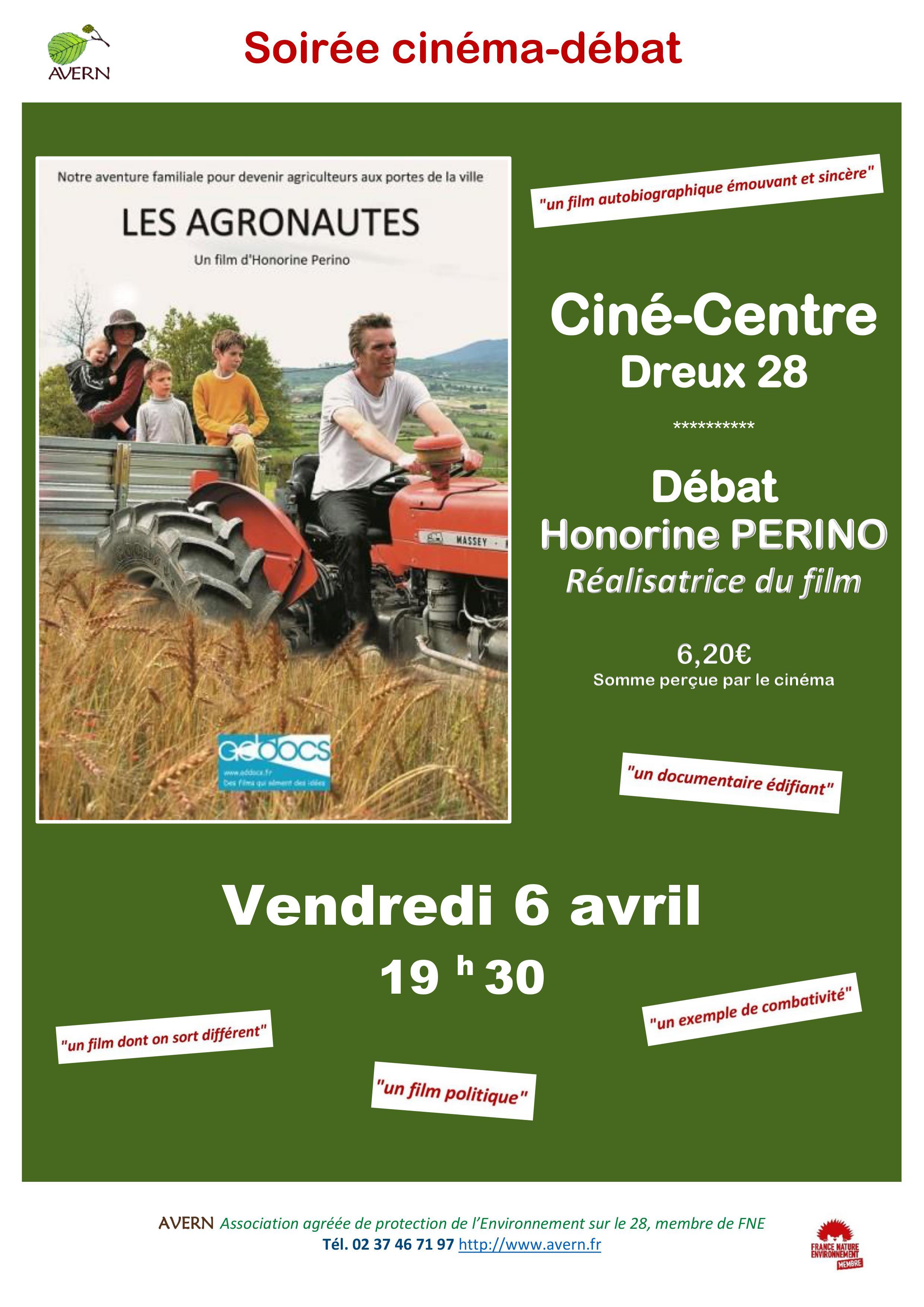 Le film «Les Agronautes» de Honorine PERINO diffusé le 6 avril